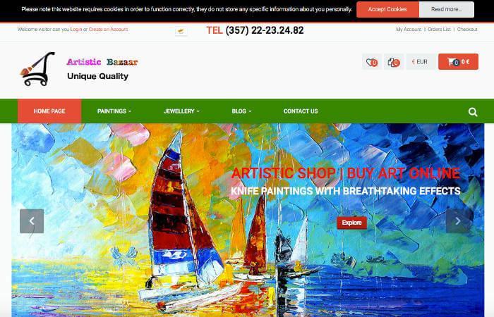 Artistic Bazaar Eshop