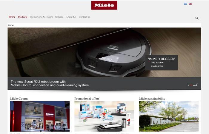 Miele Web Design by JCSL from portfolio