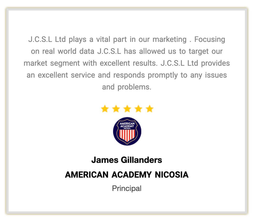 Customer Testimonial Link | Testimonial from American Academy Nicosia